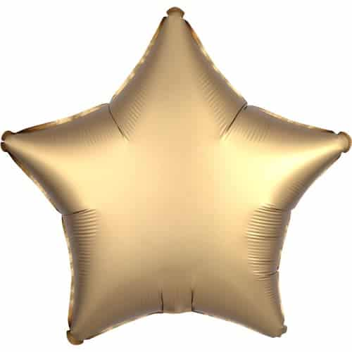 Gold Satin Luxe Star Foil Helium Balloon 48cm / 19Inch