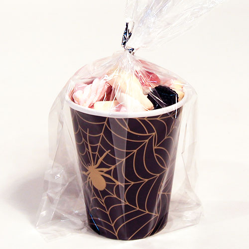 Gold Spider Web Halloween Candy Cup 165g