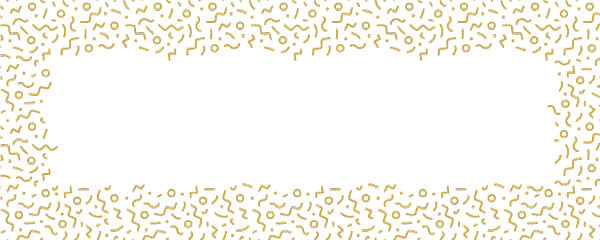 Gold Squiggle Design Medium Personalised Banner - 6ft x 2.25ft