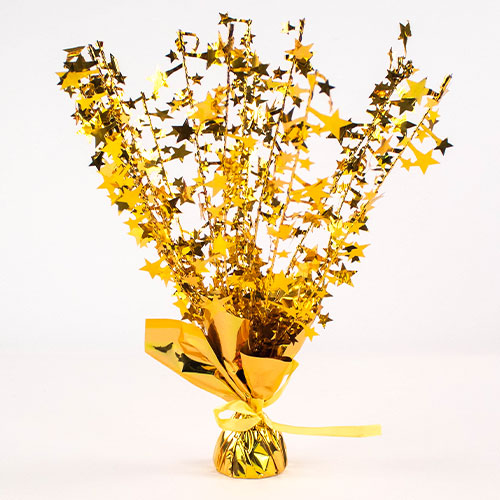 Gold Star Balloon Weight Centrepiece 36cm Product Image
