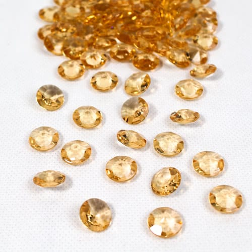 Gold 12mm Round Diamonds Premium Table Gems 28g
