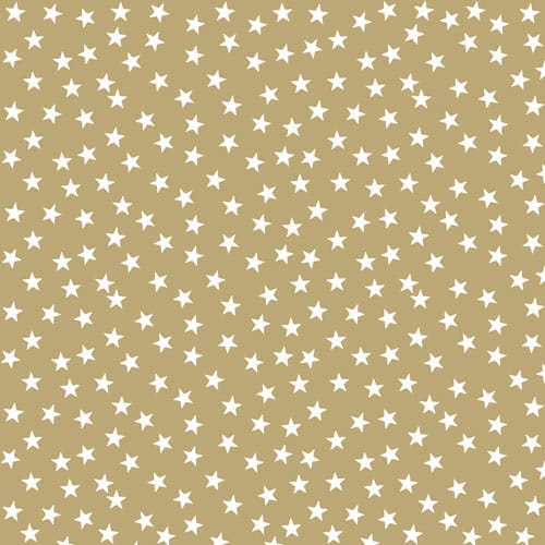 Gold With Stars And Trees Design Luncheon Napkins 3 Ply - 33cm - Pack of 20