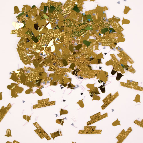 Golden Anniversary Table Confetti 14 Grams