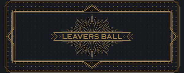 Golden Leavers Ball PVC Party Sign Decoration 60cm x 25cm