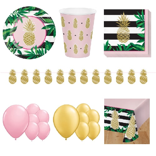 Golden Pineapple 16 Person Deluxe Party Pack