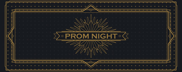 Golden Prom Night PVC Party Sign Decoration 60cm x 25cm Product Image