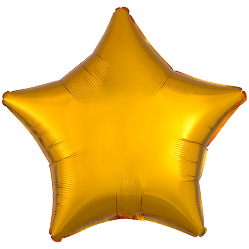 Golden Star Shape Foil Helium Balloon 48cm / 19 in
