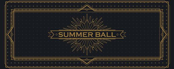 Golden Summer Ball PVC Party Sign Decoration 60cm x 25cm