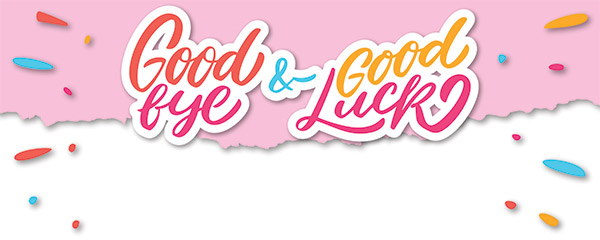 Good Bye Good Luck Design Small Personalised Banner 4ft x 2ft