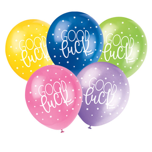 Good Luck Assorted Biodegradable Latex Balloons 30cm / 12Inch - Pack of 5 Product Image