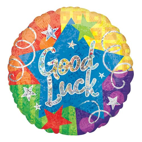 Good Luck Holographic Jumbo Foil Helium Balloon 71cm / 28Inch Product Image