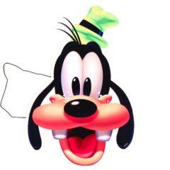 Disney Goofy Cardboard Face Mask Product Image