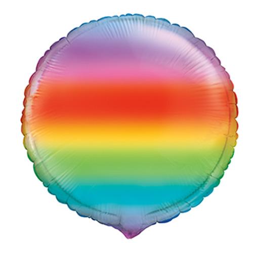 Gradient Rainbow Round Foil Helium Balloon 46cm / 18 in