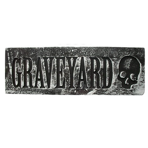 Graveyard Halloween Wall Plaque Hanging Decoration 48cm Product Image