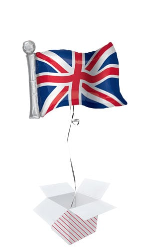 Great Britain Flag Helium Foil Giant Balloon - Inflated Balloon in a Box