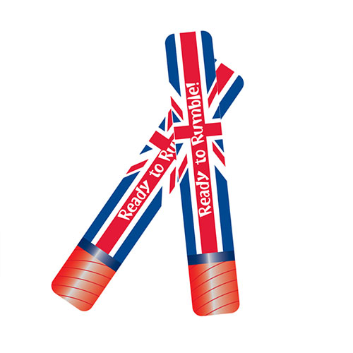 Great Britain Inflatable Foil Rumble Sticks - Pack of 2 Product Image