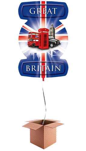 Great Britain Theme London Icons Helium Foil Giant Balloon - Inflated Balloon in a Box