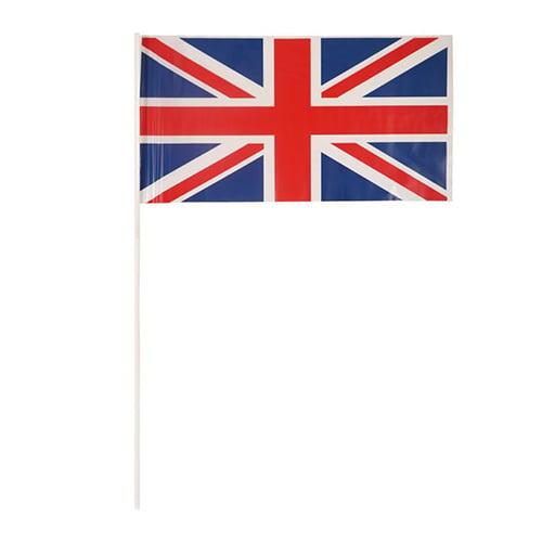 Great Britain Union Jack Plastic Hand Flag on Stick 29cm