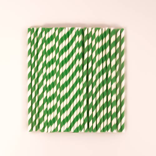 Green Biodegradable Paper Straws - Pack of 50 Product Image