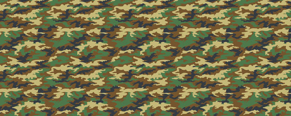 Green Camouflage Design Small Personalised Banner - 4ft x 2ft