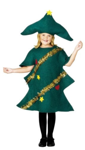 Green Christmas Tree With Tinsel Costume 9 - 12 Years Childrens Fancy Dress