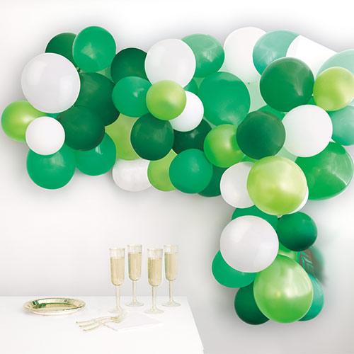 Green DIY Garland Balloon Arch Kit