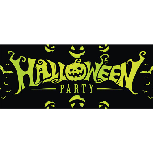 Green Halloween Party PVC Party Sign Decoration 60cm x 25cm Product Image