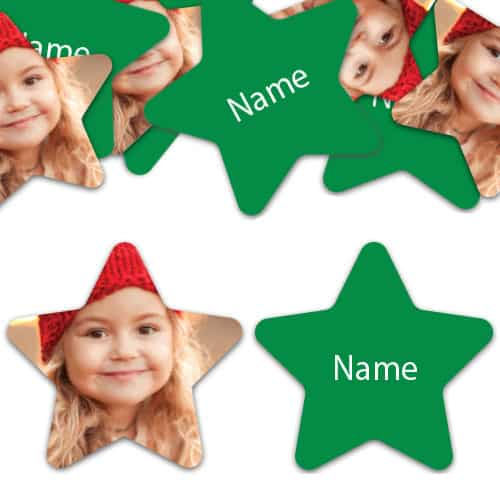 STAR Shape - Green Personalised Confetti - Pack of 50 Product Image