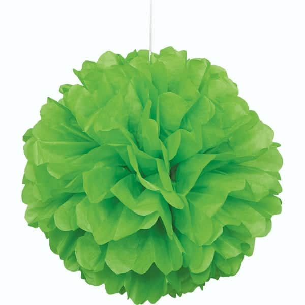 Lime Green Honeycomb Hanging Decoration Puff Ball 40cm Product Image