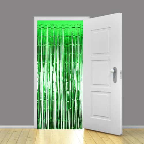 Green Metallic Shimmer Curtain - 92 x 244cm - Pack Of 5