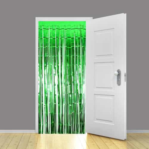 Green Metallic Shimmer Curtain - 92 x 244cm