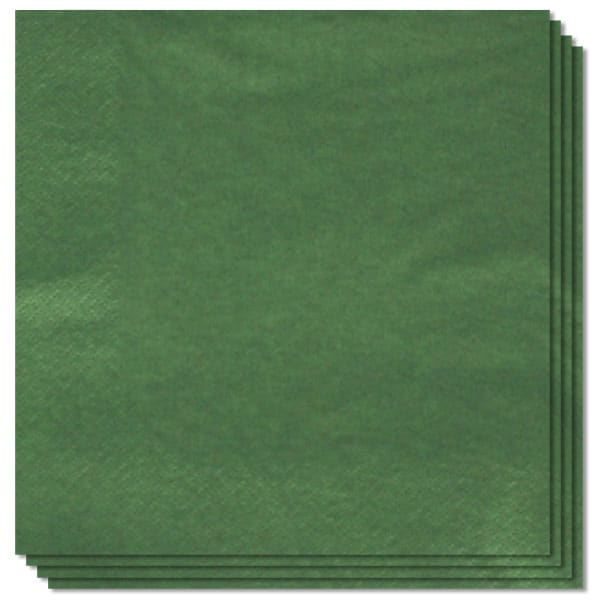 Green 2 Ply Napkins - 13 Inches / 33cm - Pack of 100