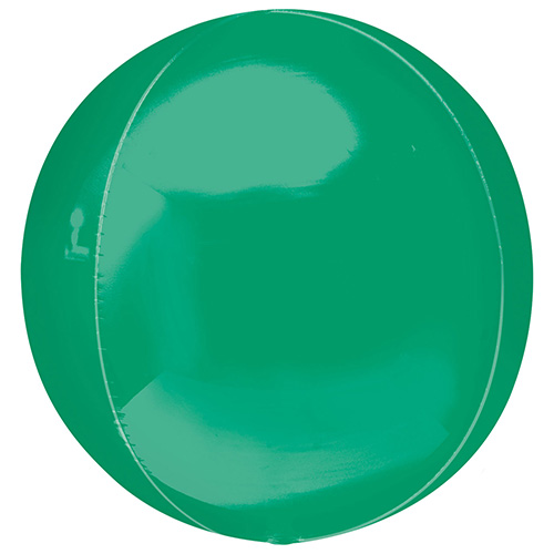 Green Orbz Foil Helium Balloon 38cm / 15 in Product Image