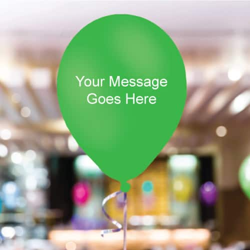 Green Personalised 11 Inch Latex - 35 Balloons
