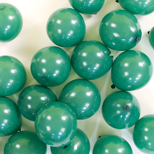 Green Round Mini Latex Qualatex Balloons 13cm / 5 in – Pack of 100 Product Image