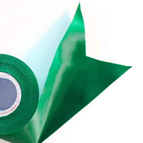 Green Satin Faced Ribbon Reel 100mm x 25m Product Image