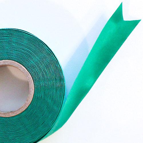 Green Satin Faced Ribbon Reel 25mm x 50m Product Image