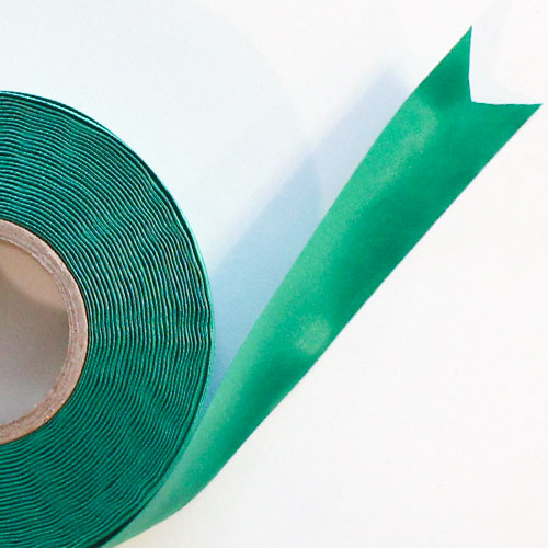 Green Satin Faced Ribbon Reel 38mm x 50m Product Image