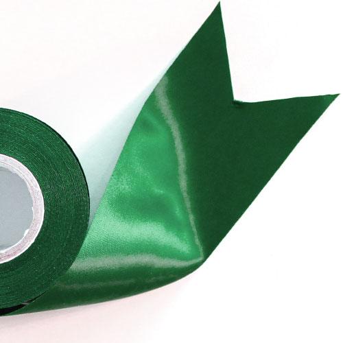 Green Satin Faced Ribbon Reel 70mm x 25m Product Image