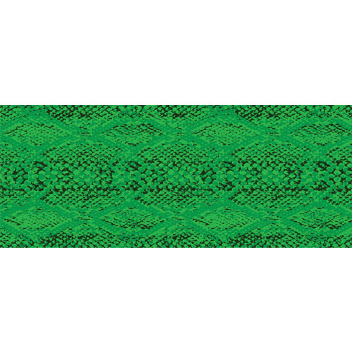 Green Snake Animal Print PVC Party Sign Decoration 60cm x 25cm Product Image