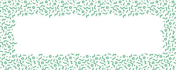 Green Squiggle Design Small Personalised Banner - 4ft x 2ft