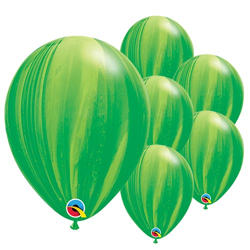 Green SuperAgate Latex Qualatex Balloons 28cm / 11 in - Pack of 25 Product Image