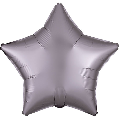 Greige Satin Luxe Star Shape Foil Helium Balloon 48cm / 19 in