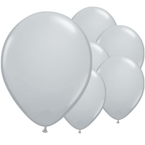 Grey Round Latex Qualatex Balloons 28cm / 11 in - Pack of 100