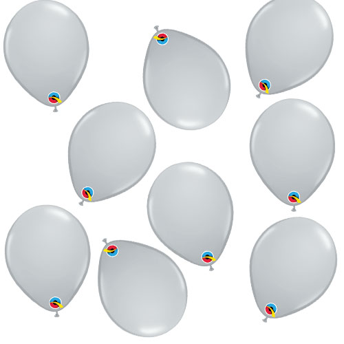 Grey Round Mini Latex Qualatex Balloons 13cm / 5 in - Pack of 100