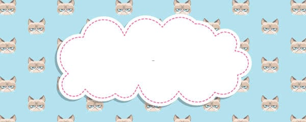 Grumpy Cat Blue Design Large Personalised Banner - 10ft x 4ft