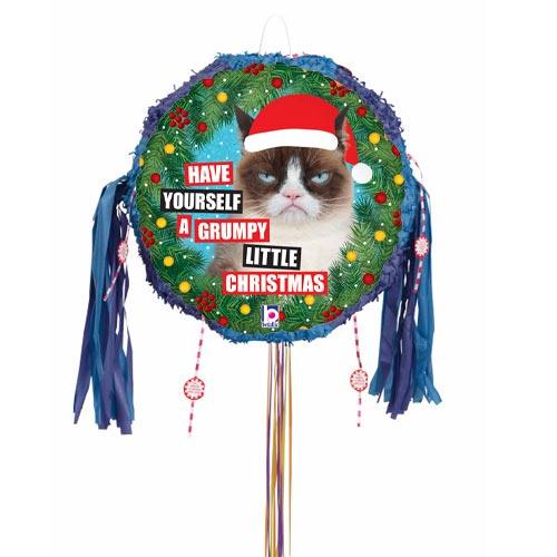 Grumpy Cat Christmas Holographic Pull String Pinata Product Image