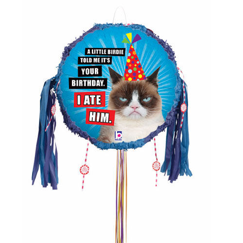 Grumpy Cat I Ate Him Holographic Pull String Pinata Product Image