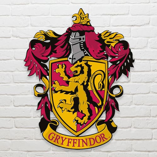 Harry Potter Wizarding World Gryffindor Emblem Wall Art Cutout 61cm Product Image
