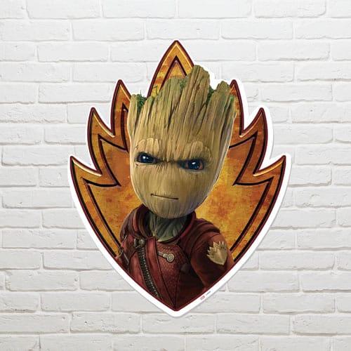 Guardians of the Galaxy Groot Emblem Wall Art 83 x 66cm